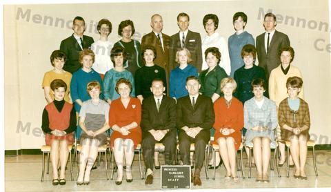 Aaa Title Transfer >> Princess Margaret School Staff 1965-1966 - Mennonite Archival Image Database