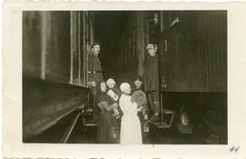 Transfer from the Russian to Lithuanian train, 1929