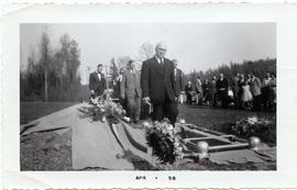 Heinrich M. Epp officiating at a graveside service