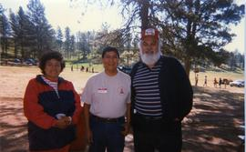 Barb, Elmer, and Martin at camp in Crazy Head Springs