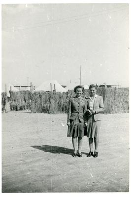 Two nurses in refugee camp, Egypt