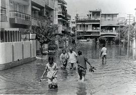 Flood victims in Delhi, India