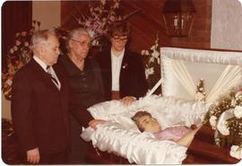 Edith Dick, in her coffin
