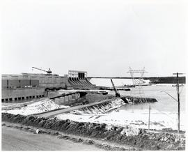 A cofferdam at Kettle Rapids