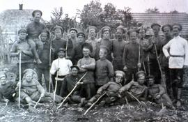 Group of men in forestry service