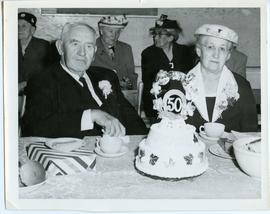 Peter A. Rempel and Susanna (Warkentine) Rempel at Golden wedding