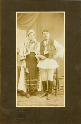 A Moldavian wedding couple