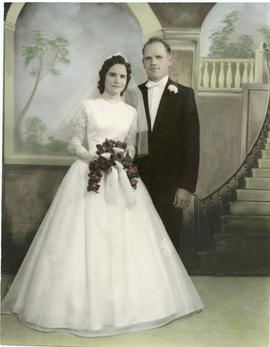 Alfred Dick and Edith Koop's wedding portrait