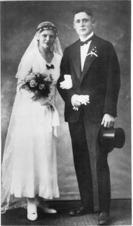 Gustav and Erna Wiens on their wedding day