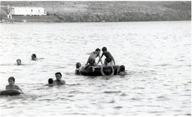 Children playing in the lake during CMC Annual sessions - Swift Current