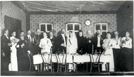 "Commerce school students in play ""The Wedding"""