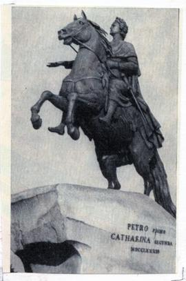 Bronze Horseman monument to Peter I in Leningrad
