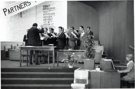 A Male choir singing at Conference of Mennonites In Canada - Annual sessions
