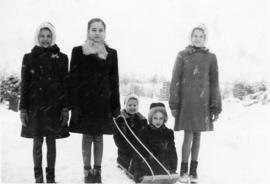 Heidi and Edith with the Loewen girls