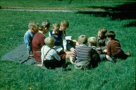 Boys Sunday School class with Miss Schroeder