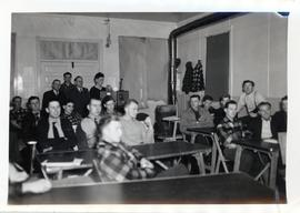 Young men in a classroom at the Rhineland Agricultural Institute