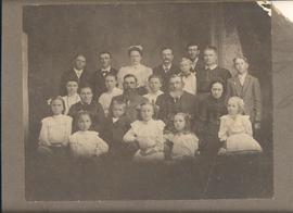 Two Goossen brothers and their families