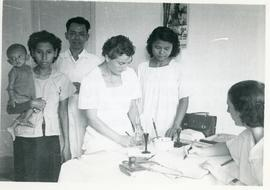 "Demonstration at the "" Well Baby Clinic"" Health Center, Cambodia"