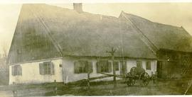 An old thatched roof mud house in Rosenthal, Russia