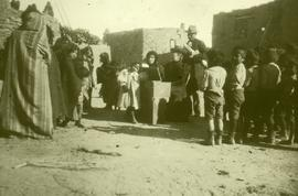 Street meeting in Oraibi Hopi Settlement