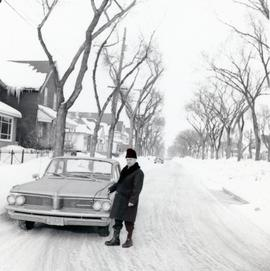 Peter with a car, Feb 1967