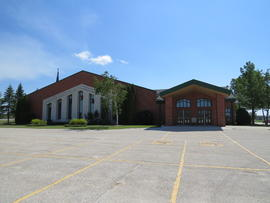 Eastview Community Church, exterior view towards the northeast