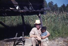 Henry J. with young girl, Mexico