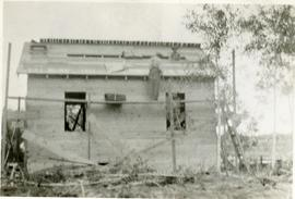 The building of Peter and Mary's first house at 286 Mckay Ave