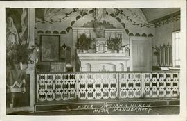 """Altar of Indian Church"" near Vanderhoof"