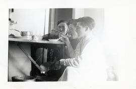 Young men  eating at the Rhineland Agricultural Institute