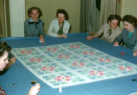 Women quilting at the Reedley Mennonite Brethren Church