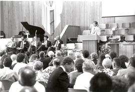 Dennis Fast speaking at the 1990 General Conference of MB Churches convention