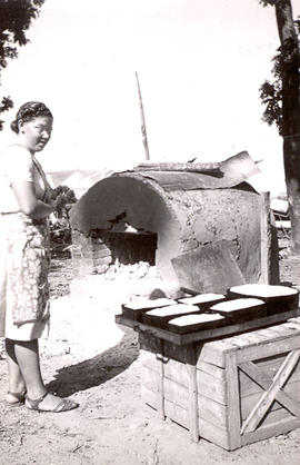 Baking bread in the Chaco, ca. 1946-1948