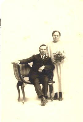 P.D. Kiehn and Susie Balzer wedding portrait