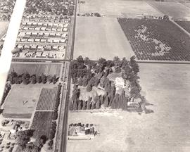 Aerial photograph of future Fresno Pacific University campus and surrounding area