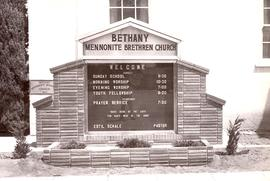 Bethany Mennonite Brethren Church sign