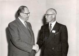 H. H. Janzen and B. J. Braun at 1954 General Conference of Mennonite Brethren Churches convention