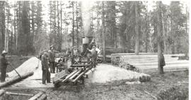 Sawmill in Mennonite settlement at Vanderhoof, B.C., 1918