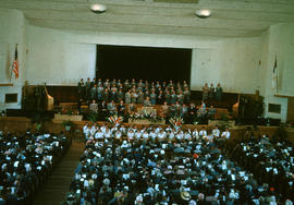 Worship service at Reedley Mennonite Brethren Church, ca. 1952-1953
