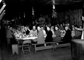 People eating meal at Civilian Public Service Camp #31