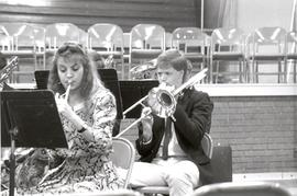 Musicans playing at the 1990  General Conference of MB Churches convention