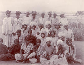 A group of unidentified Indian Christians