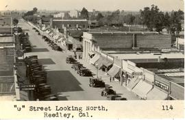 View along G Street to the northwest, Reedley, California