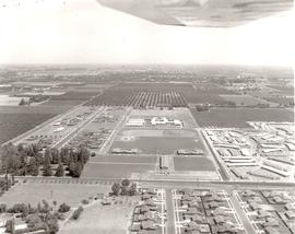 Aerial photograph of Pacific College campus and surrounding area, 1961