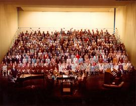 West Coast Mennonite Men's Chorus at Saroyan Theater, Fresno, California, 2 April 1978
