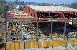 Construction of Reedley Mennonite Brethren Church building.