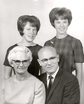 Linda and B. J. Braun with their daughters Judith and Ruth