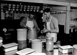 Kitchen staff working at Civilian Public Service Camp #31