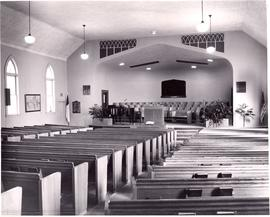 Interior of Dallas Mennonite Brethren Church sanctuary