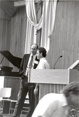 Jim Holm and Bruce Porter at 1990 General Conference of MB Churches convention